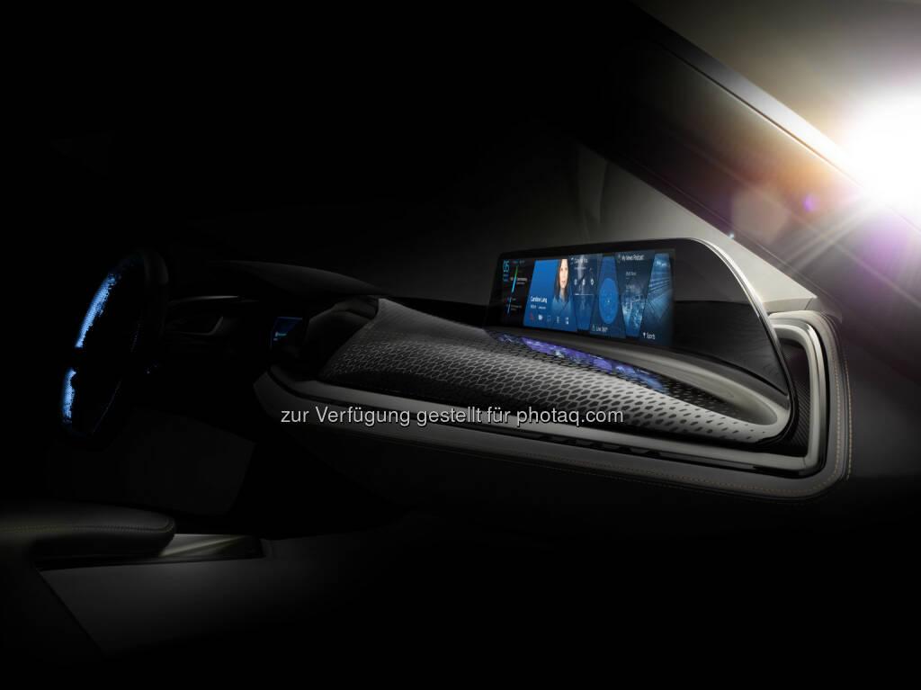 BMW Group @ CES 2016, Vision Car Interieur und User-Interface der Zukunft : BMW Group auf der CES 2016 in Las Vegas. Mit AirTouch präsentiert BMW das Prinzip des berührungslosen Touchscreens : © BMW Group, © Aussendung (28.12.2015)
