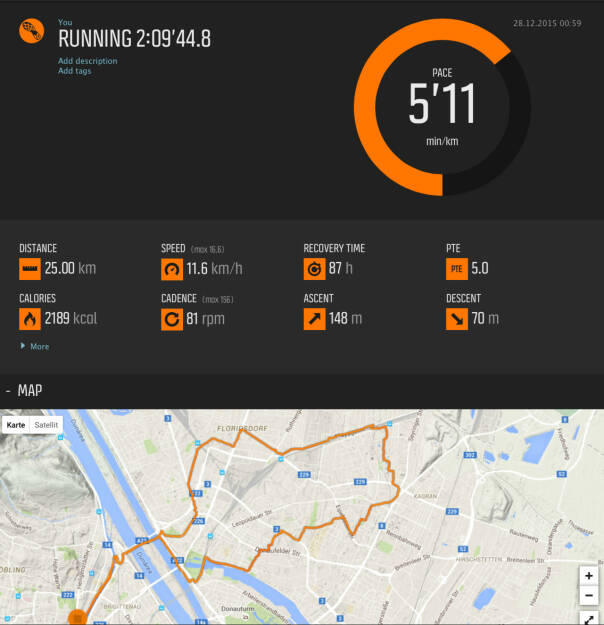 25k in 2:09,44, Pace 5:11 (28.12.2015)