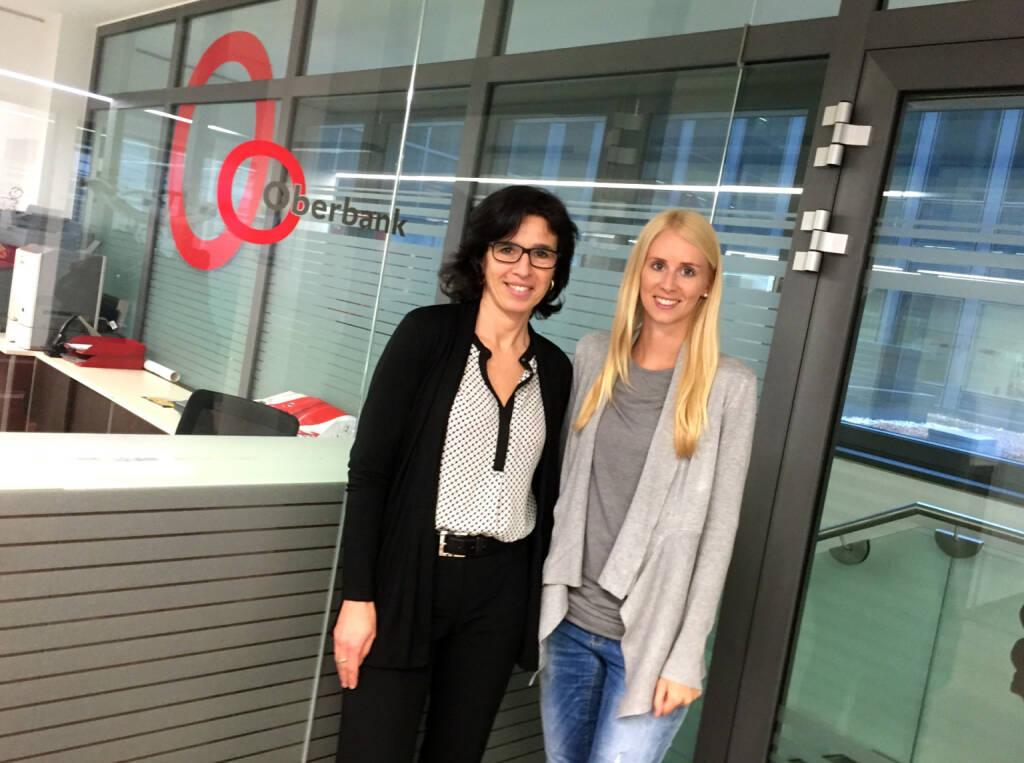 Mit Alexandra Furthner und Isabella Lehner im Oberbank Office in Wien (29.12.2015)