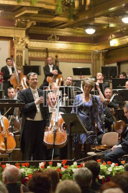 Herbert Müller (Orchestervorstand Wiener Symphoniker), Barbara Rett, © Martina Draper (01.04.2013)