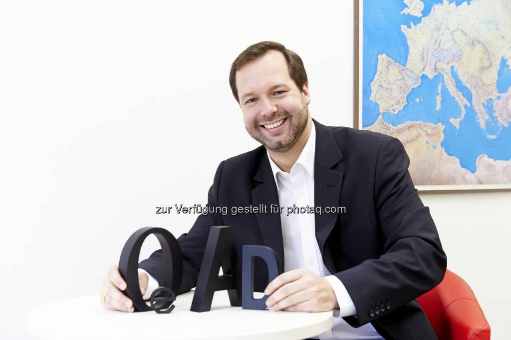 Stefan Zotti übernimmt mit 1. Jänner 2016 die Geschäftsführung der OeAD (Österreichische Austauschdienst)-GmbH : Fotocredit: OeAD/Sabine Klimpt, © Aussendung (04.01.2016)