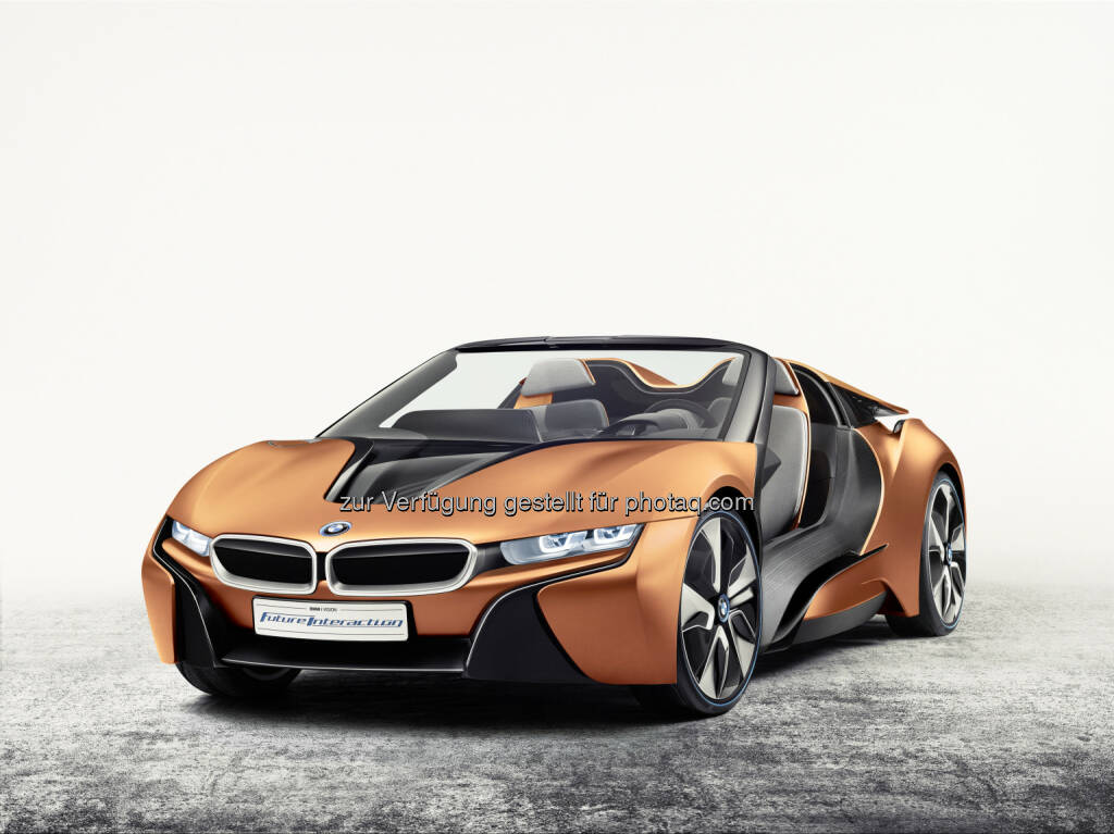 BMW i Vision Future Interaction : BMW Group auf der Consumer Electronics Show 2016 (CES; 6. bis 9. Januar 2016 in Las Vegas) : Messeauftritt unterstreicht die führende Position im Bereich Connected Car : © BMW Group, © Aussendung (06.01.2016)