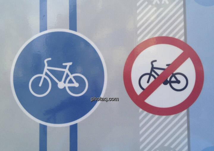 Fahrrad-Schilder, Radfahren