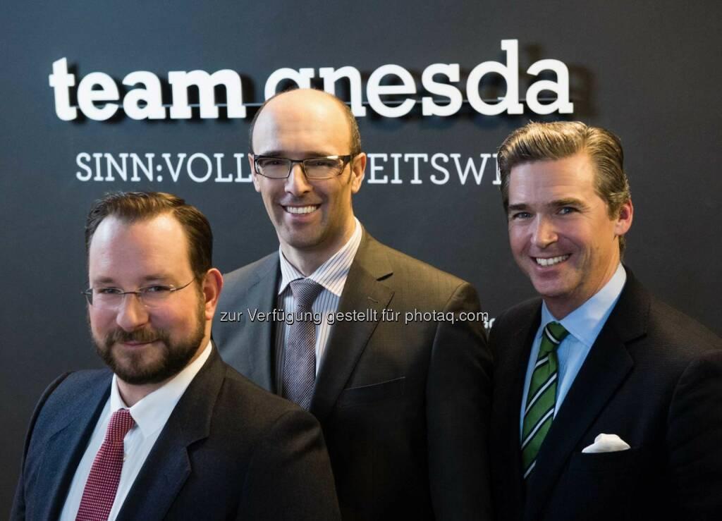Stephan Pasquali, Marko Rostek, MSc, Andreas Gnesda: teamgnesda 2016: Geschäftsführung neu (C) Wilke, © Aussender (07.01.2016)