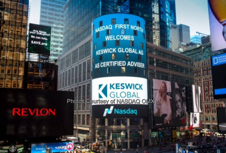 Nasdaq First North Welcomes Keswick Global AG As Certified Adviser