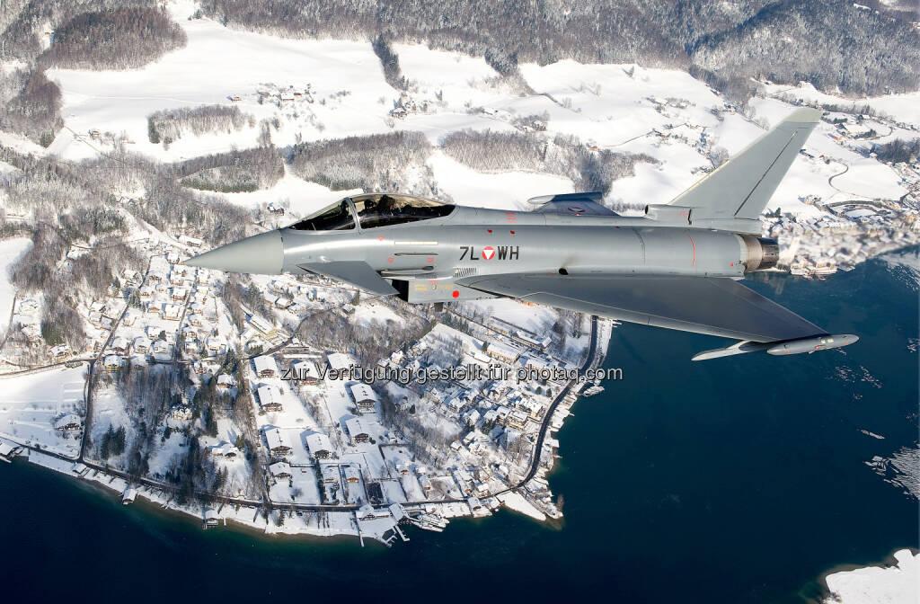 Weltwirtschaftsforum 2016 in Davos: Österreichische Eurofighter werden den Luftraum sichern : Fotocredit: Eurofighter Jagdflugzeug GmbH, © Aussender (18.01.2016)