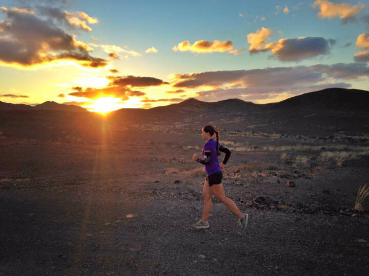 Monika Kalbacher auf Fuerteventura, Sonnenaufgang