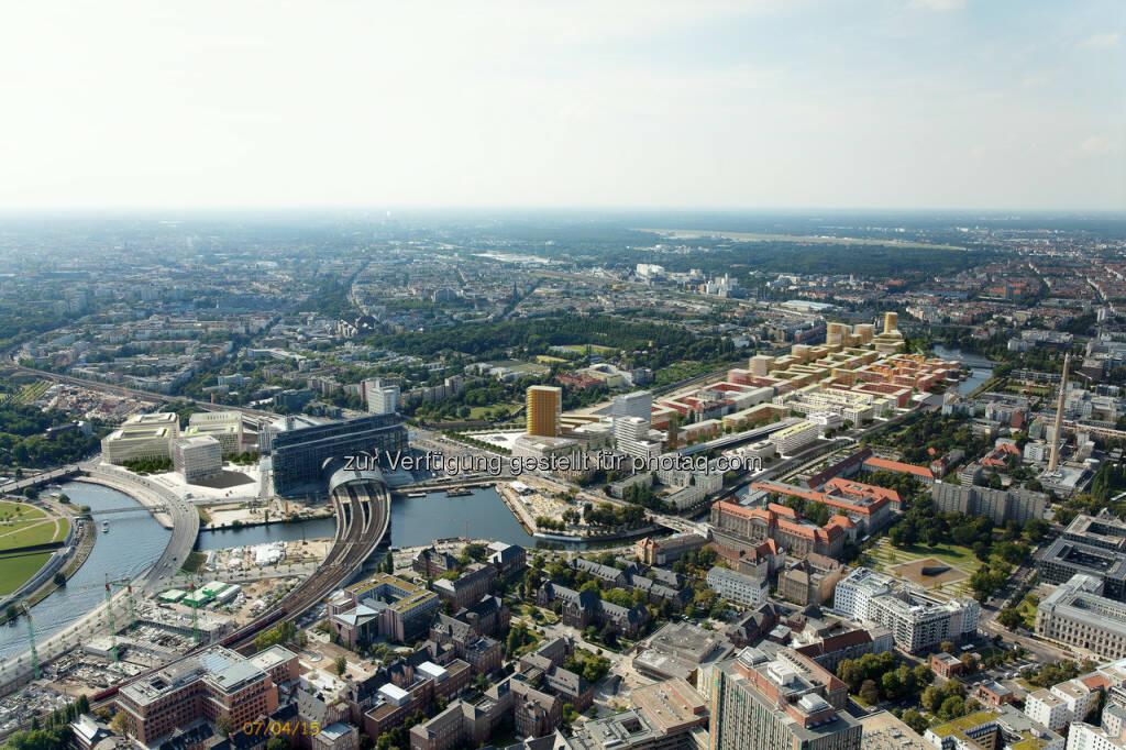 Europacity, Berlin : CA Immo verkauft zwei Baufelder in Berlin : CA Immo und Hamburg Team haben zwei weitere, gemeinsam entwickelte Baufelder in der Europacity verkauft : Käufer der insgesamt rd. 9.720 m² großen Baufelder ist die BUWOG Group : © CA Immo, © Aussendung (21.01.2016)
