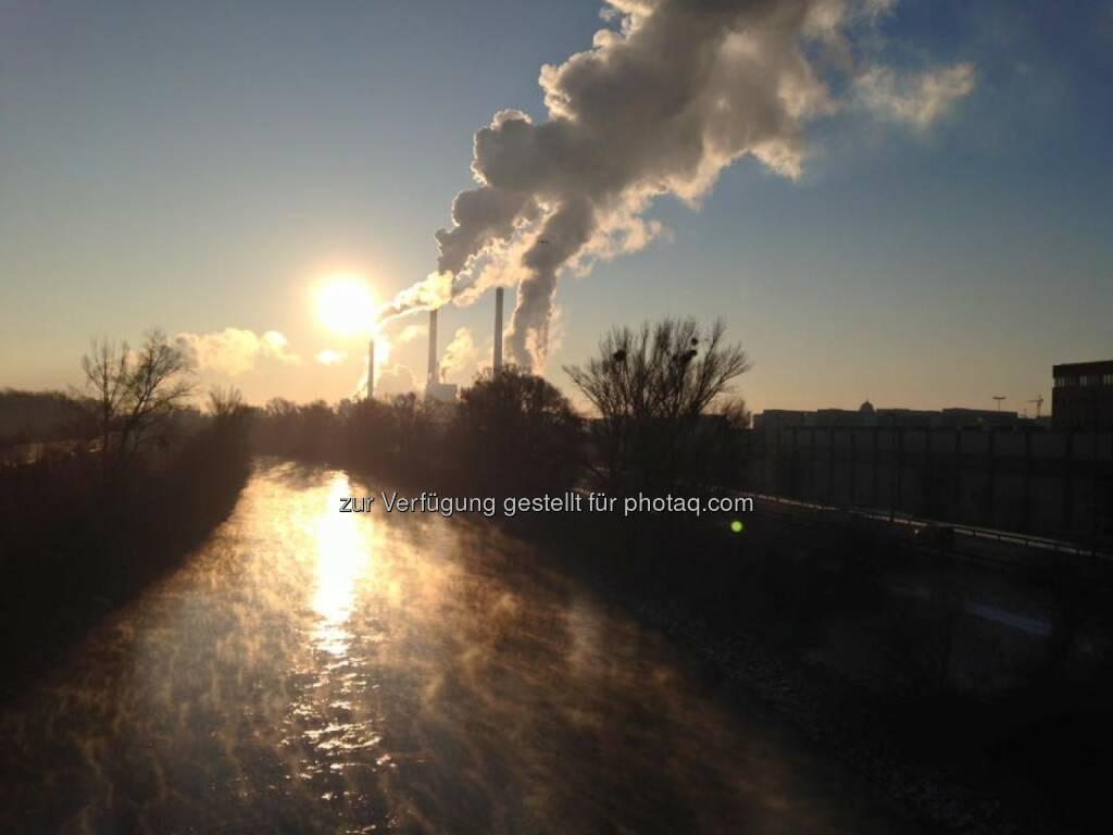 Donaukanal Rauchfang Sonne Morgen, © Thomas Rottenberg (22.01.2016)