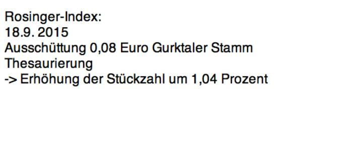 Indexevent Rosinger-Index 3: Gurktaler Stamm laut http://www.wienerborse.at/investors/news/boerse_news/dividendenzahlung-gurktaler-2014-2015.html