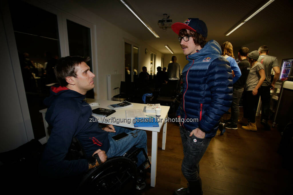 Wolfgang Illek  talking to Florian Neuschwanderat the Wings for Life World Run event in Munich 23rd of January 2016 (Bild: Daniel Grund) (24.01.2016)
