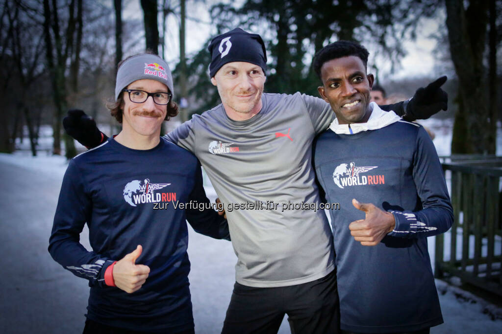 Participants at the Wings for Life World Run event in Munich 23rd of January 2016, with Thomas Rottenberg   (Bild: Daniel Grund) (24.01.2016)