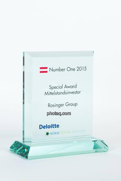 Special Award Mittelstandsinvestor Rosinger Group, © photaq/Martina Draper (27.01.2016)