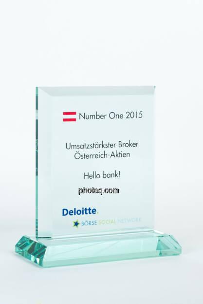 Umsatzstärkster Broker Österreich-Aktien Hello bank!, © photaq/Martina Draper (27.01.2016)