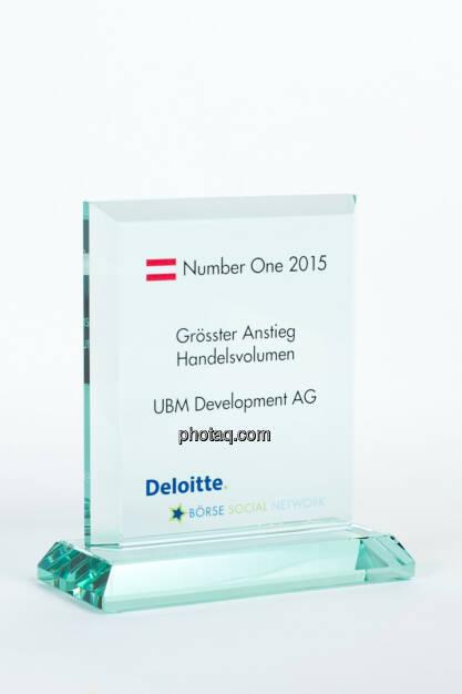 Grösster Anstieg Handelsvolumen UBM Development AG, © photaq/Martina Draper (27.01.2016)