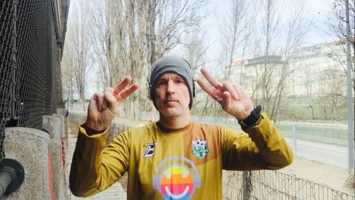 27.1. - Lauf in der viel zu heissen Goalie-Dress des SC Alland, diesen Verein sponsern wir