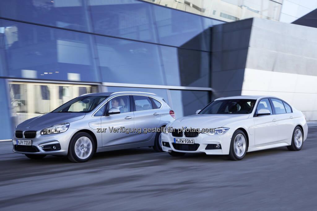 BMW 225xe und BMW 330e: Die beiden neuen BMW Modelle wurden bei der internationalen Pressevorstellung in Garching/München am  25. - 29.Januar 2016 präsentiert : © BMW Group, © Aussendung (29.01.2016)