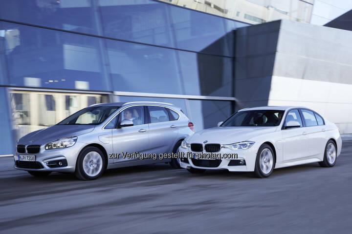 BMW 225xe und BMW 330e: Die beiden neuen BMW Modelle wurden bei der internationalen Pressevorstellung in Garching/München am  25. - 29.Januar 2016 präsentiert : © BMW Group