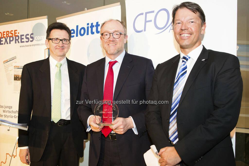 Bernhard Gröhs (Deloitte), David Davies (OMV), Gerhard Marterbauer (Deloitte), © Franz Reiterer für den Börse Express (mit freundlicher Genehmigung vom Börse Express) (05.04.2013)