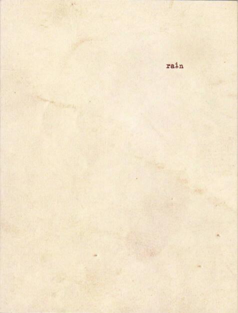 Manuel Castillo - rain, Ediciones La Visita 2015, Cover - http://josefchladek.com/book/manuel_castillo_-_rain, © (c) josefchladek.com (02.02.2016)