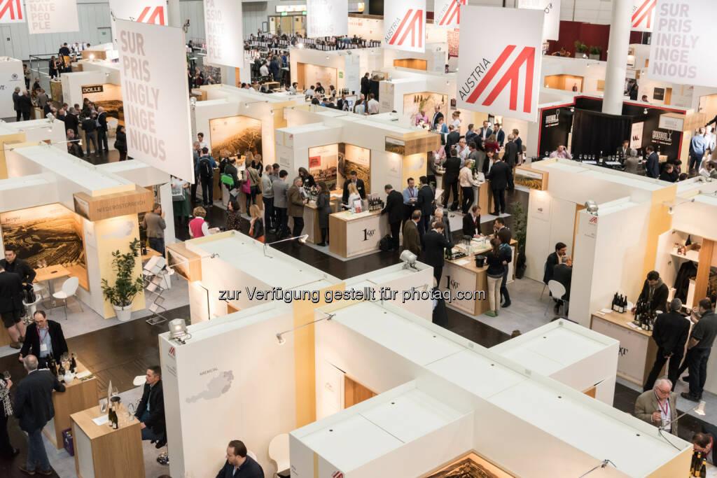 Österreich Wein Halle 17 ProWein : Präsenz auf der ProWein 2016 im März in Düsseldorf : Österreich wird wie bereits 2015 mit mehr als 360 Ausstellern vertreten sein : Fotocredit: ÖWM/Tibor Rauch (02.02.2016)