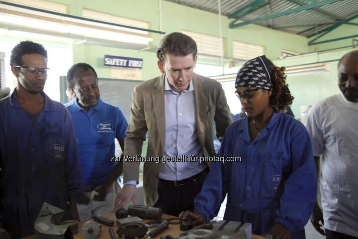 Verein Menschen für Menschen: Außenminister Kurz in Äthiopien: Erfahrungsaustausch mit der Organisation Menschen für Menschen