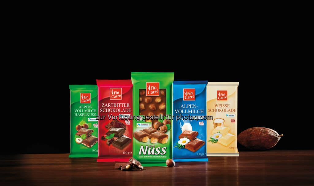 Fin Carré-Schokoladen mit Fairtrade- und UTZ-Zertifizierung : Auf dem Weg nach Morgen : Nachhaltige Schokolade bei Lidl Österreich : Fotorechte: © Copyright Lidl Österreich, © Aussender (04.02.2016)