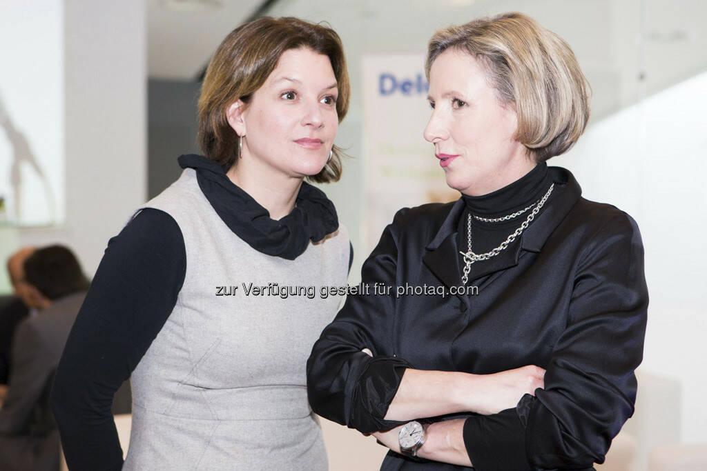 Christina Hardegg, Karola Kraus (Mumok), © Franz Reiterer für den Börse Express (mit freundlicher Genehmigung vom Börse Express) (05.04.2013)
