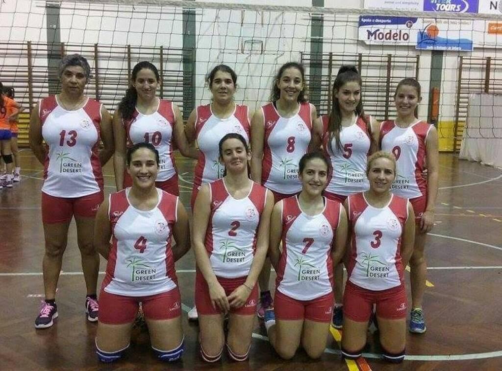 Volleyballteam Madeira mit Sponsor Green Desert Intl.  (07.02.2016)