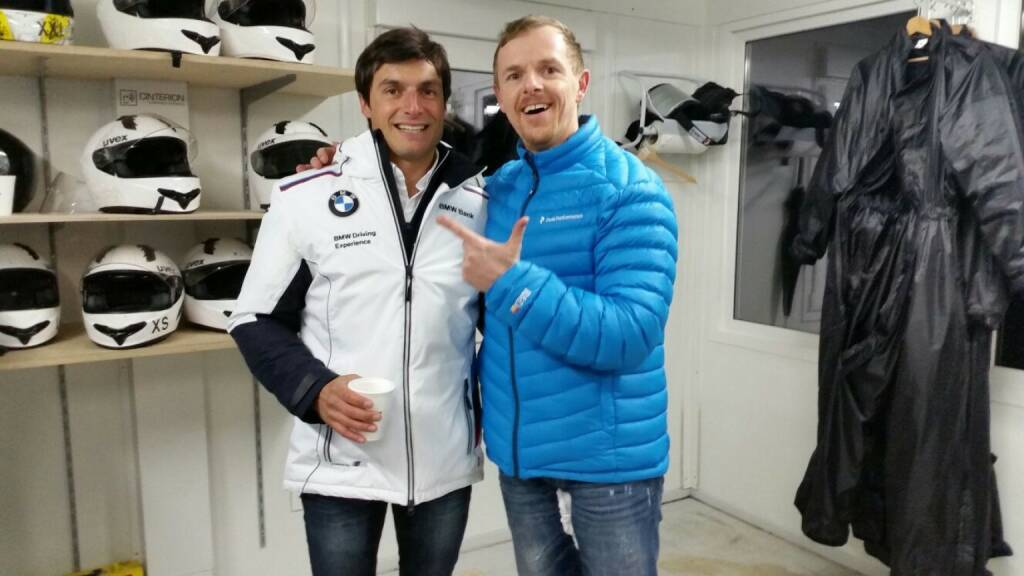 DTM-Pilot Bruno Spengler und Christian-Hendrik Knappe (Deutsche Bank) , © Aussendung (08.02.2016)
