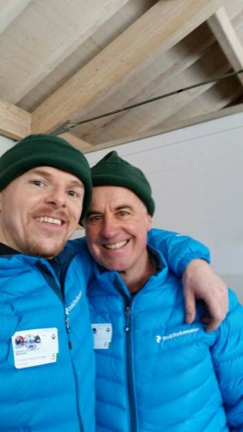 Christian-Hendrik Knappe (Deutsche Bank) mit Biathlon-Legende Fritz Fischer, © Aussendung (08.02.2016)