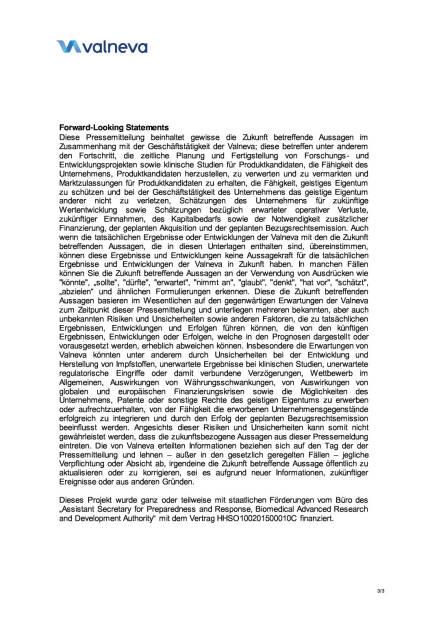 Valneva schließt neue F&E-Kooperation ab, Seite 3/3, komplettes Dokument unter http://boerse-social.com/static/uploads/file_608_valneva_schliesst_neue_fe-kooperation_ab.pdf (08.02.2016)