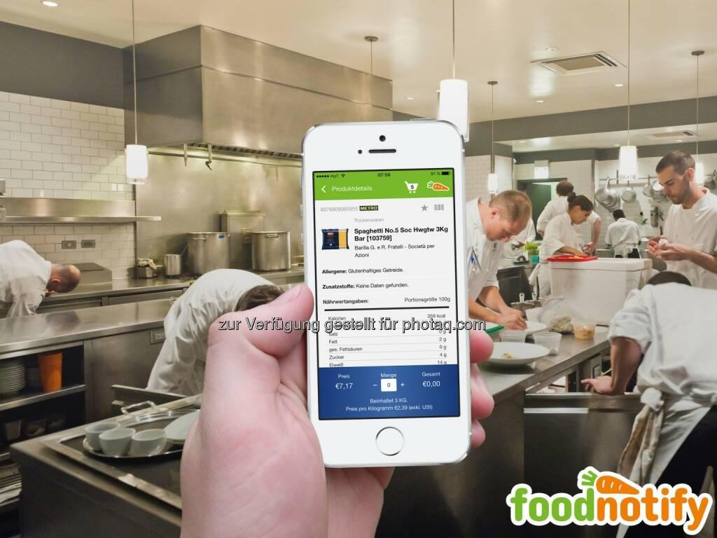 FoodNotify - Allergenverordnung : Weitere Erleichterung für die Gastronomie : Neue Funktionen helfen Aufwand in der Gastronomie zu reduzieren : Fotocredit: FoodNotify, Foto von star5112 (flickr) adaptiert / CC, © Aussender (10.02.2016)