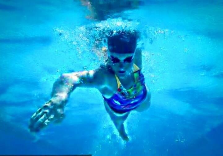 Vorwärts Schwimmen Kraulen Tanja Stroschneider