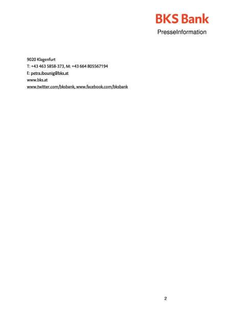 Gudrun M. Matitz leitet Privatkundengeschäft der BKS Bank, Seite 2/2, komplettes Dokument unter http://boerse-social.com/static/uploads/file_636_gudrun_m_matitz_leitet_privatkundengeschaft_der_bks_bank.pdf (15.02.2016)