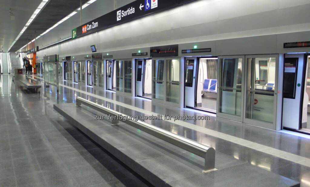 U-Bahnlinie 9 in Barcelona : Längste fahrerlose U-Bahn Europas in Barcelona in Betrieb : © Siemens AG, © Aussendung (15.02.2016)