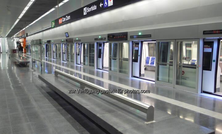 U-Bahnlinie 9 in Barcelona : Längste fahrerlose U-Bahn Europas in Barcelona in Betrieb : © Siemens AG