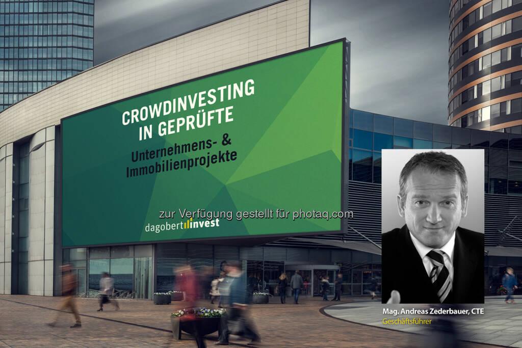Andreas Zederbauer (Gründer von dagobertinvest) : Mit dagobertinvest in betriebswirtschaftlich geprüfte Projekte investieren : Neue Crowdfunding-Plattform von Finanzexperten : Fotocredit: Johannes Brunnbauer, © Aussender (16.02.2016)