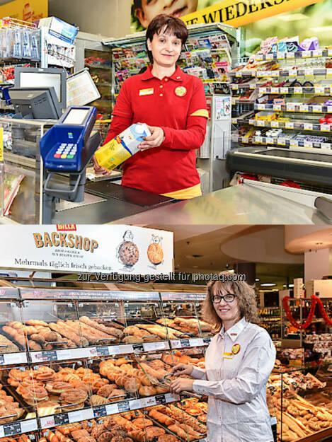 Sandra Svzetits und Eva Maier (ehem. Zielpunkt Marktmanagerinnen) : REWE International AG übernimmt 25 ehemalige Zielpunkt Standorte in Wien und Niederösterreich : Fotocredit: REWE International AG/Harson, © Aussendung (18.02.2016)