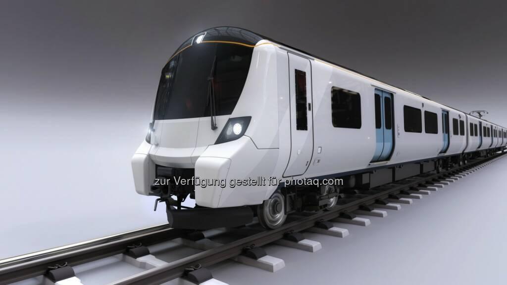 Sechsteiliger Nahverkehrszug auf Fahrzeugplattform Desiro City : Weitere 25 Züge von Siemens für Londoner Great-Northern-Strecke : Fotocredit: Siemens AG, © Aussendung (18.02.2016)