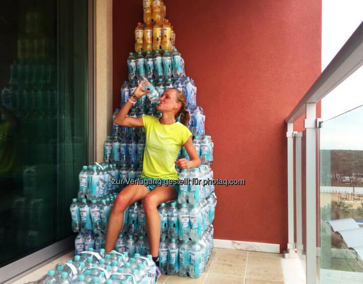 Anna Hahner, Lego für Große, Reigning like a waterqueen. #BauenmitGerolsteiner #Wasserturm