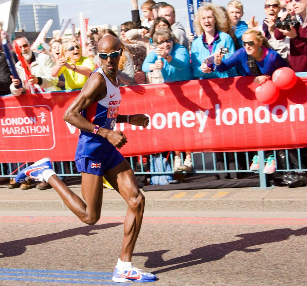 Mo Farah beim London Marathon 2014 <a href=http://www.shutterstock.com/gallery-351214p1.html?cr=00&pl=edit-00>Michaelpuche</a> / <a href=http://www.shutterstock.com/editorial?cr=00&pl=edit-00>Shutterstock.com</a>, © shutterstock.com (22.02.2016)