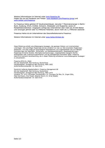 Fresenius erwirbt Klinik in NRW, Seite 2/2, komplettes Dokument unter http://boerse-social.com/static/uploads/file_667_fresenius_erwirbt_klinik_in_nrw.pdf (22.02.2016)