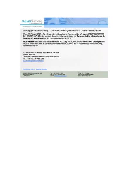 Sanochemia: neue Aktieninhaber, Seite 1/1, komplettes Dokument unter http://boerse-social.com/static/uploads/file_666_sanochemia_neue_aktieninhaber.pdf (22.02.2016)