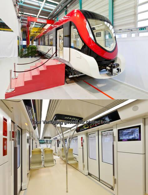 Metro für Riad, Typ Inspiro : Siemens präsentiert neue Metro für Riad : (c) Siemens, © Aussendung (23.02.2016)