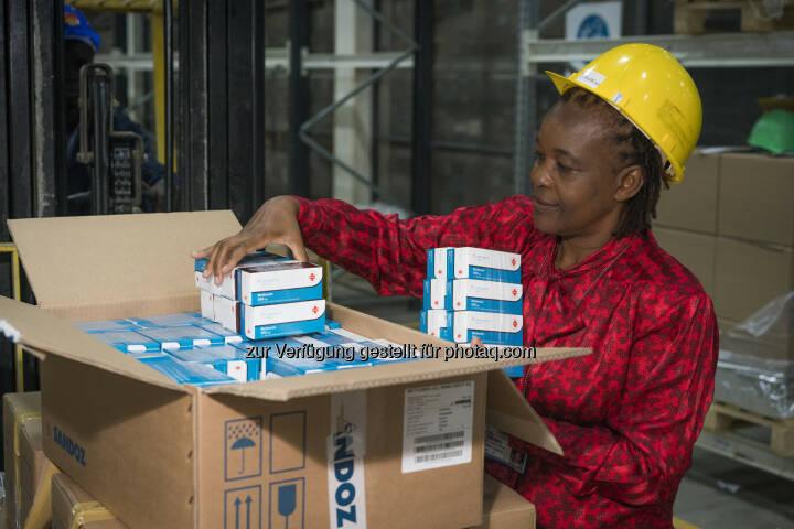 Jane Masiga, Head of Operations, MEDS, Kenia : Lieferung der ersten Novartis Access Medikamente in Kenia eingetroffen : Fotocredit: Novartis