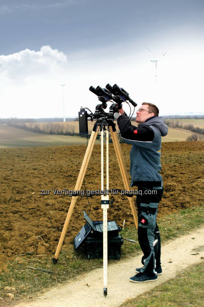 Blattwinkelmessung : Windkraft Simonsfeld steigert Erträge durch Korrektur von Rotorblattwinkeln : Fotocredit: Windkraft Simonsfeld, © Aussendung (25.02.2016)