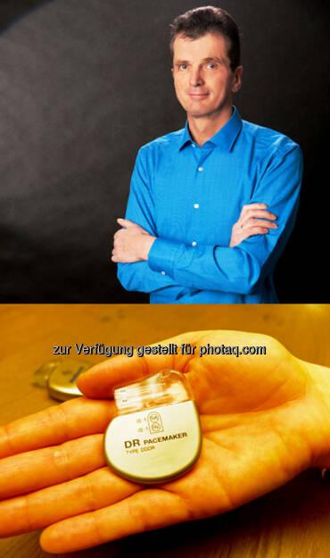 Johannes Sametinger (Inst. f. Wirtschaftsinformatik, Fotocredit: Paul Hamm), Pacemaker (Fotocredit: JKU) : Sicherheitslücken: JKU-ForscherInnen schützen Herzschrittmacher vor Hackern : ©JKU, © Aussender (25.02.2016)