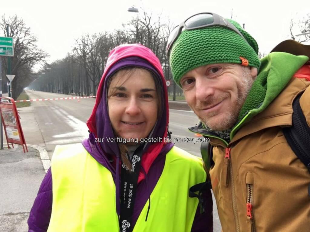 Carola Bendl-Tschiedel, Thomas Rottenberg © Thomas Rottenberg bei Laufen Hilft, © Thomas Rottenberg (28.02.2016)