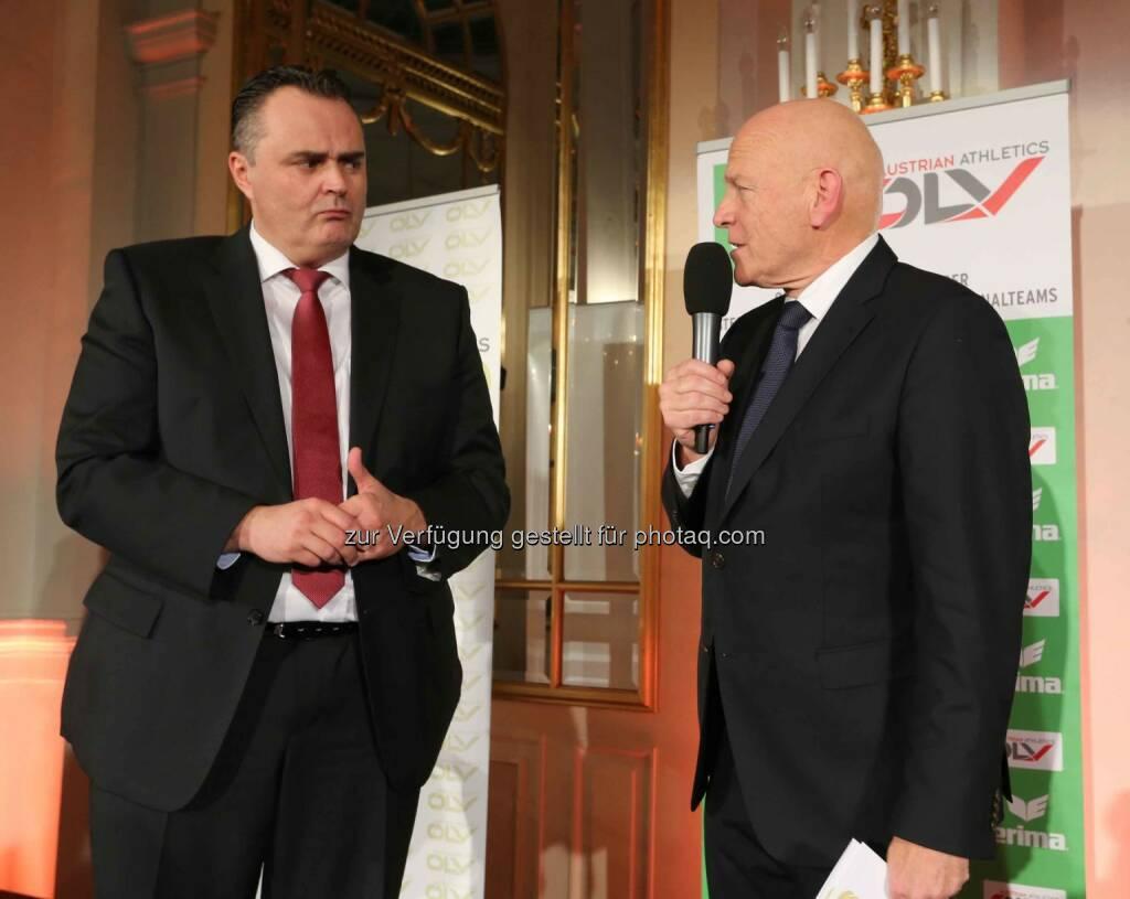 Sportminister Hans Peter Doskozil, Ralph Vallon (ÖLV-Präsident) (Bild: ÖLV) (01.03.2016)